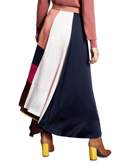 Marina Rinaldi Plus Size Frisottino Patchwork Long Skirt