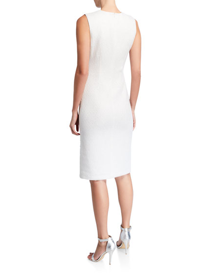 St. John Collection Sequined Sleeveless Knit Dress
