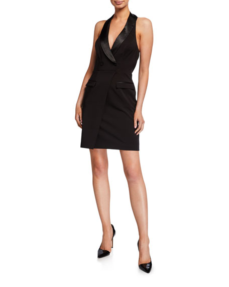 Aidan by Aidan Mattox Tuxedo Halter Dress