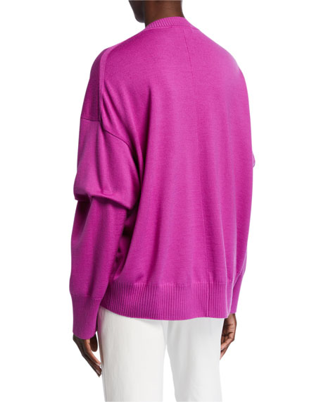 St. John Collection Extra Fine Merino Wool Knit Crewneck Sweater