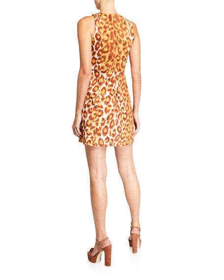 kate spade new york panthera sleeveless mini ponte dress