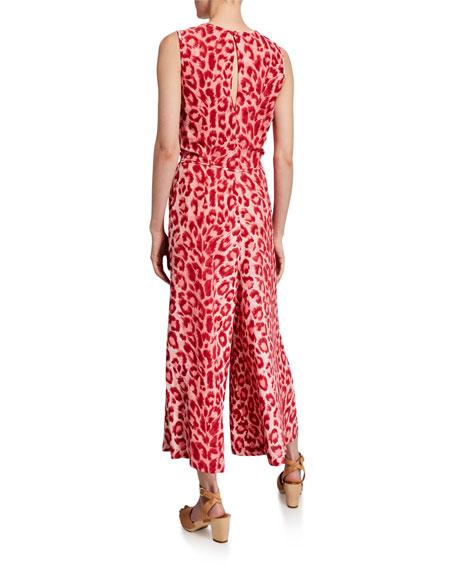 kate spade new york panthera tie-waist sleeveless jumpsuit