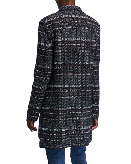 St. John Collection Textured Boucle Tweed Knit Jacket