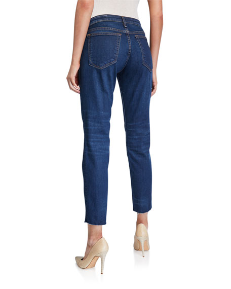 Image 2 of 3: Rag & Bone Dre Low-Rise Slim Ankle Boyfriend Jeans