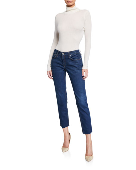 Image 3 of 3: Rag & Bone Dre Low-Rise Slim Ankle Boyfriend Jeans