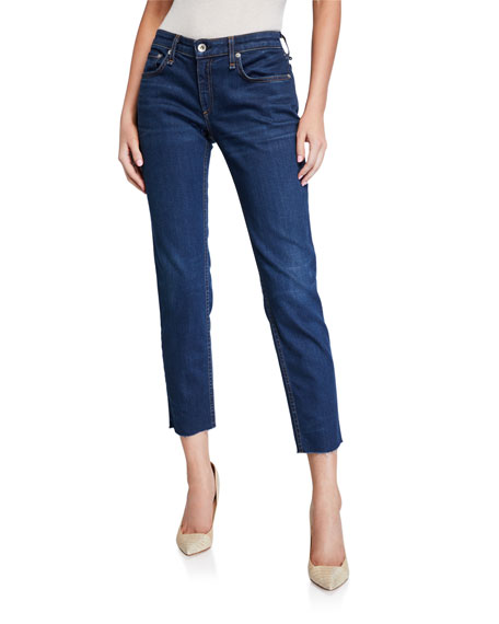 Image 1 of 3: Rag & Bone Dre Low-Rise Slim Ankle Boyfriend Jeans