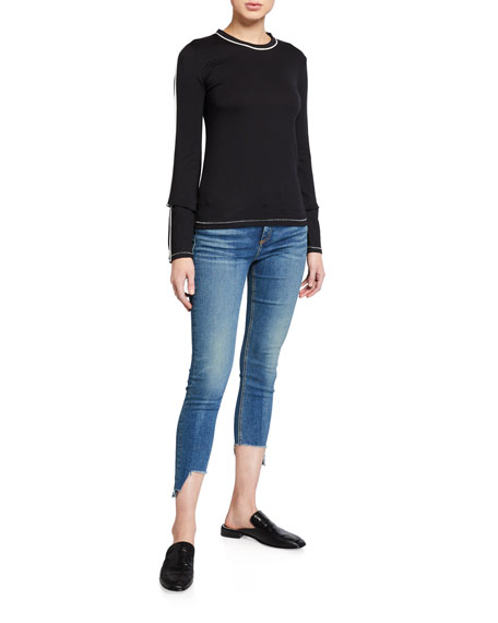 Image 3 of 3: Rag & Bone Cate Mid-Rise Skinny Jeans with Step-Hem