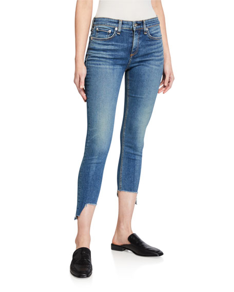 Image 1 of 3: Rag & Bone Cate Mid-Rise Skinny Jeans with Step-Hem