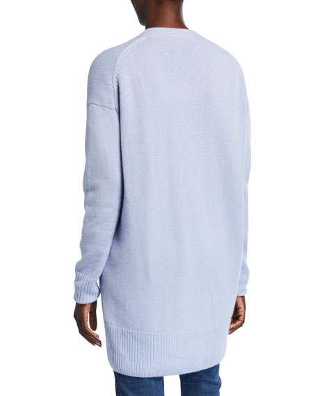 Image 3 of 3: St. John Collection Button-Front Drop Shoulder Cashmere Cardigan