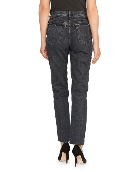 Hudson Barbara Camo High-Rise Straight Leg Jeans