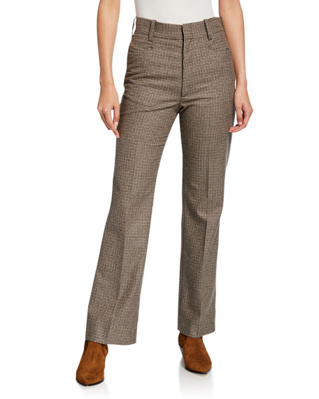 RE/DONE 70s High-Rise Check Trousers