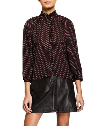Grace Dotted-Silk Shirt
