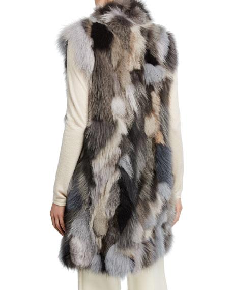 Pologeorgis Long Patchwork Fur Vest