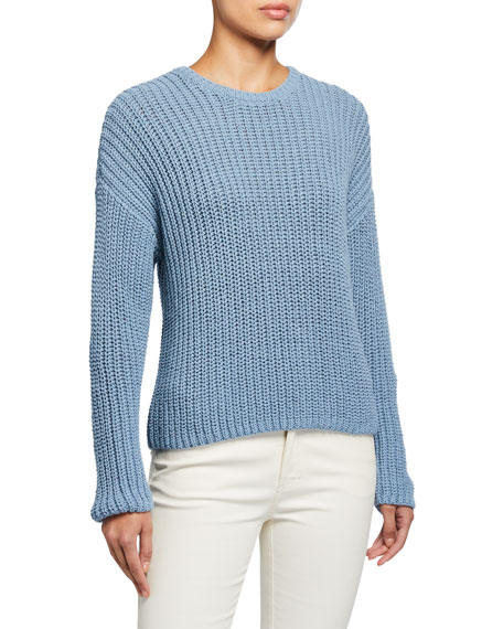 Image 1 of 2: Textured Long-Sleeve Cozy Sweater