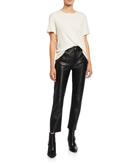 RE/DONE 50s Leather Cigarette Pants