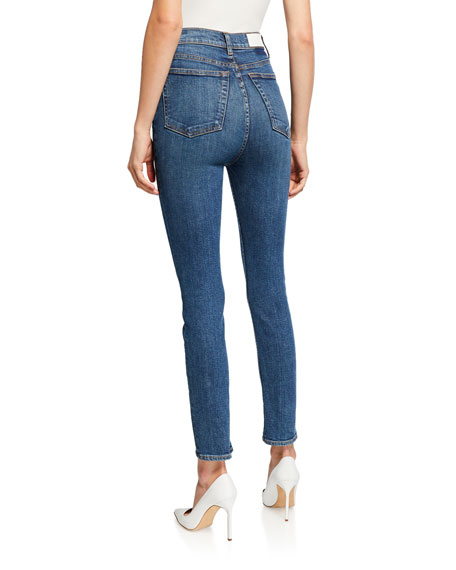 RE/DONE Ultra High-Rise Ankle Crop Jeans