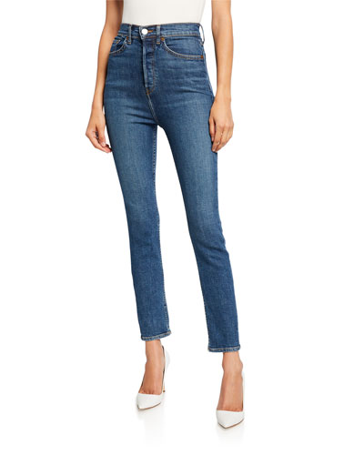 Ultra High-Rise Ankle Crop Jeans