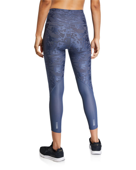Under Armour Qualifier Speedpocket Smudged Crop Leggings