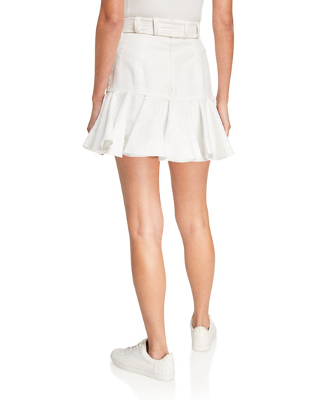 Zimmermann Super Eight Linen Safari Skirt