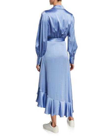 Zimmermann Silk Charmeuse Wrap Dress