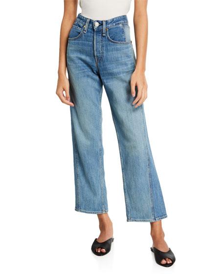 Rag & Bone Maya High-Rise Ankle Straight-Leg Jeans