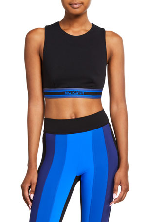No Ka Oi Nightfall Sports Bra with Striped Band