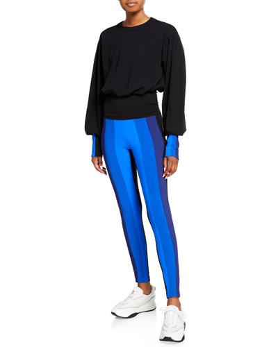 Powerhouse Striped Long-Sleeve Jumpsuit