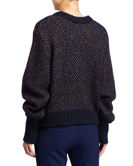 Veronica Beard Beckia Metallic Sweater
