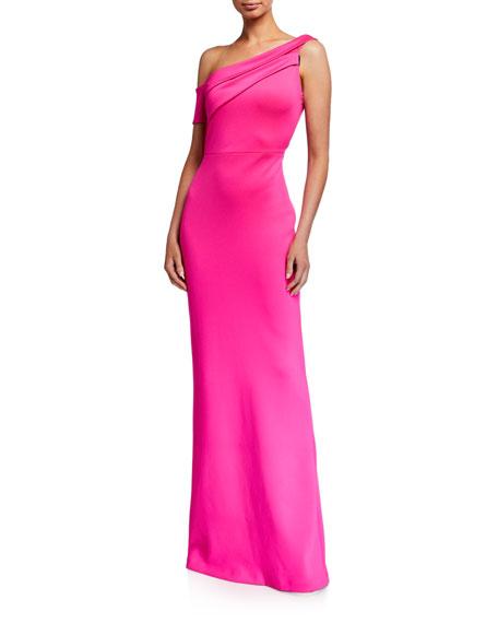 Black Halo Zendaya One-Shoulder Column Gown