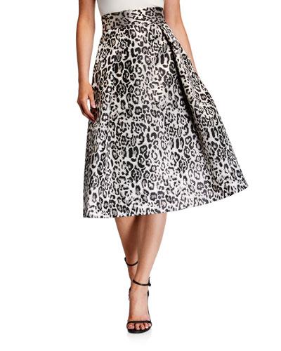 Sanibel Leopard-Print Full Cocktail Skirt