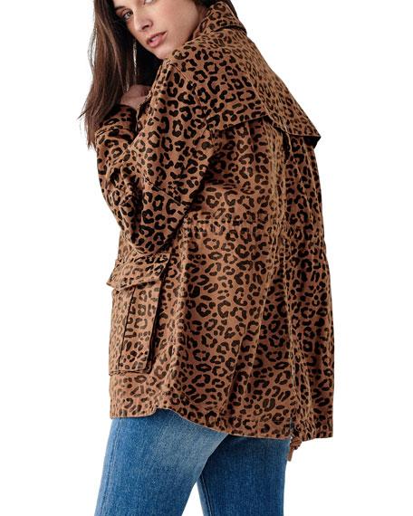 DL1961 Premium Denim Howard St. Jaguar-Print Utility Jacket