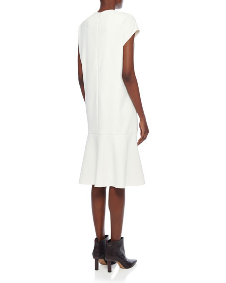 Tibi Chalky Drape Dress with Tie Detail
