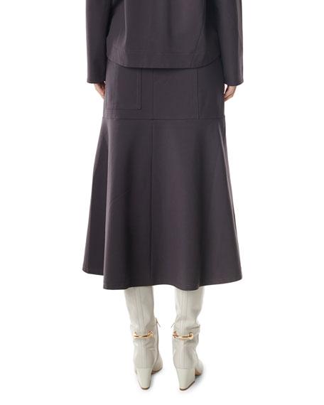 Tibi Bond Stretch Front-Slit Long Skirt