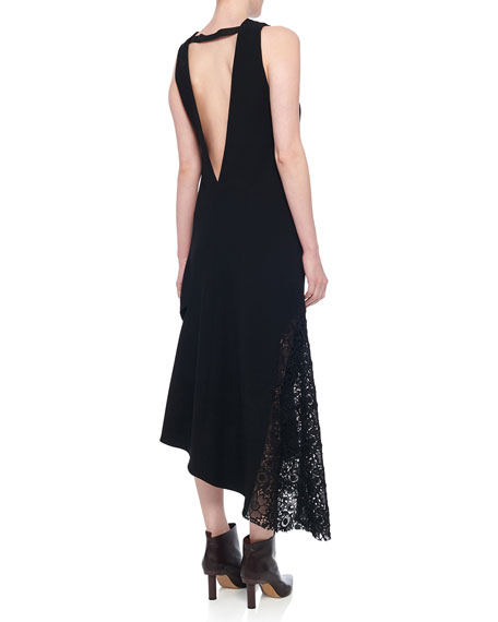 Tibi Guipure Lace Sleeveless Asymmetrical Dress