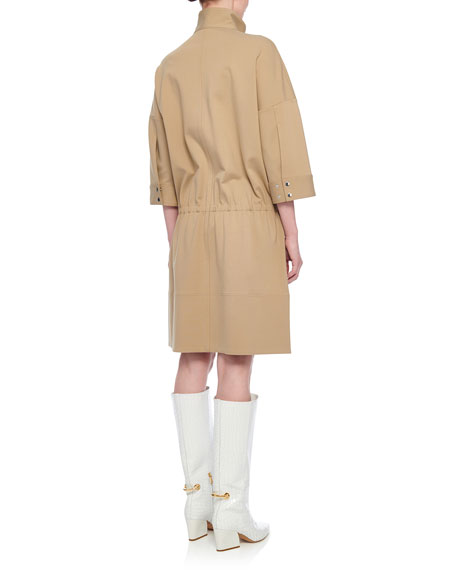 Tibi Bond Stretch Zip-Front Dress