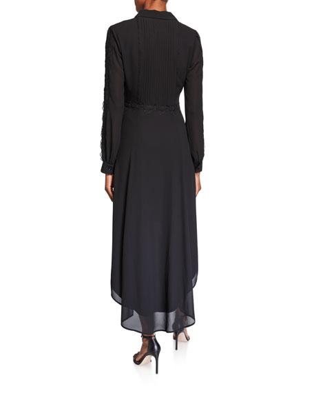 Shani High-Low Georgette Shirtdress