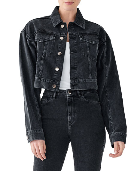DL1961 Premium Denim Annie Cropped Denim Jacket