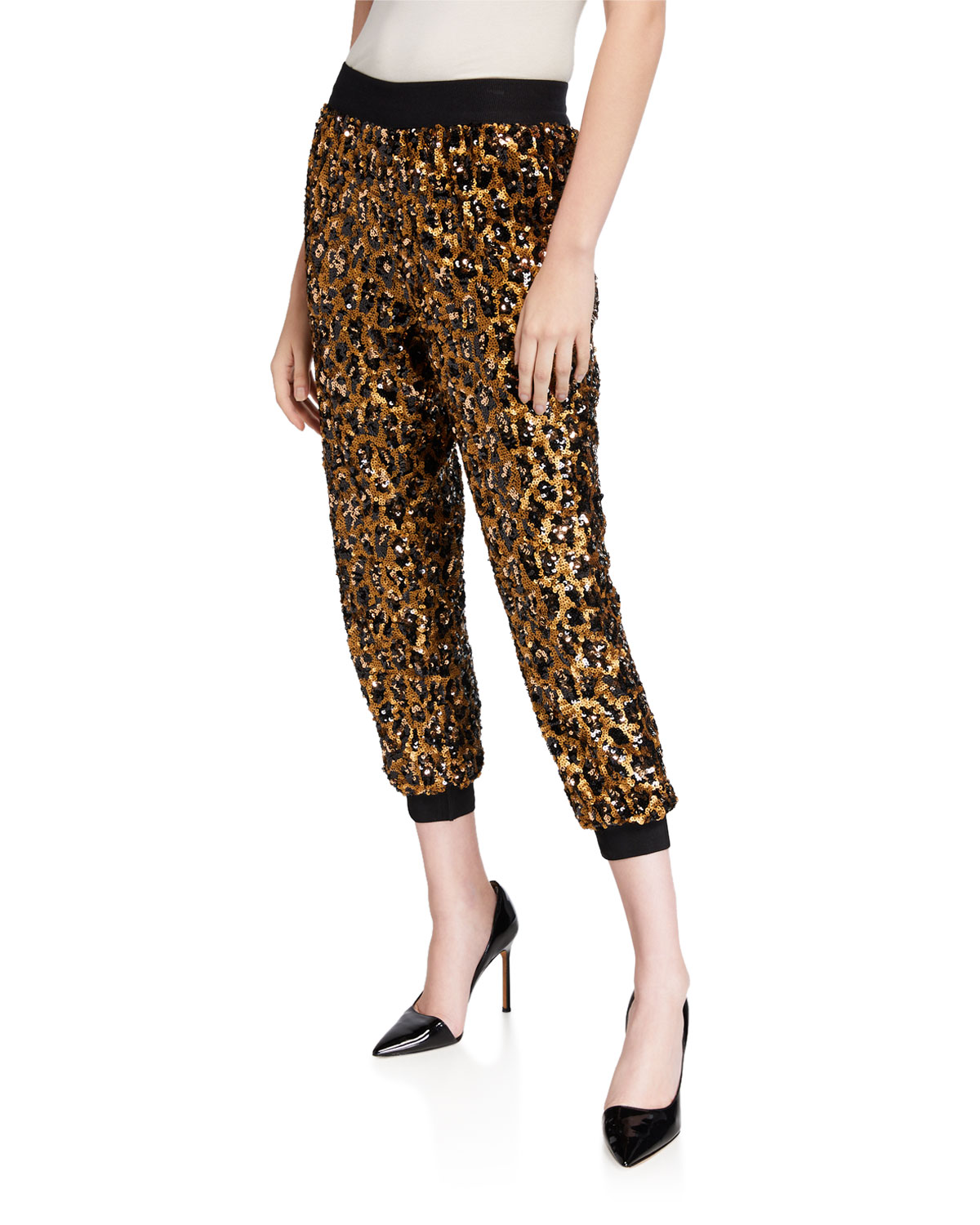 Pete Sequined Sweatpants by Alice + Olivia