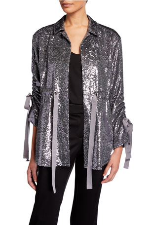 cinq a sept Mathieu Sequined Jacket