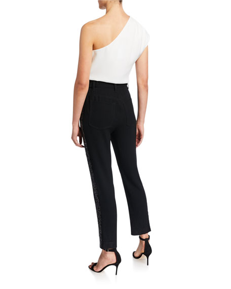 Derek Lam 10 Crosby One-Shoulder Embellished Jumpsuit