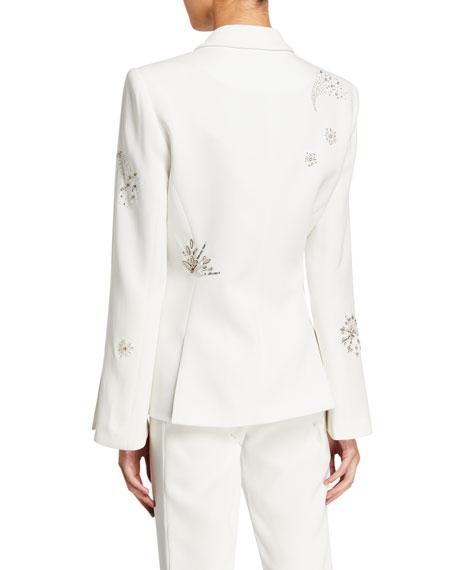 cinq a sept Rumi Shooting Star Embellished Blazer
