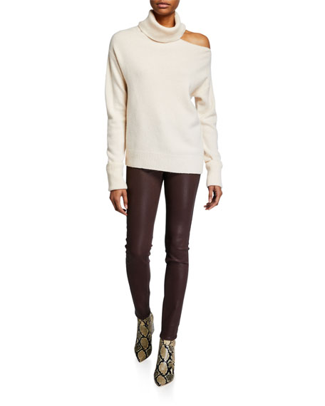 PAIGE Hoxton Ultra-Skinny Coated Jeans