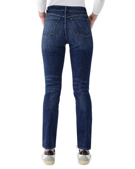 DL1961 Premium Denim Mara High-Rise Straight Jeans