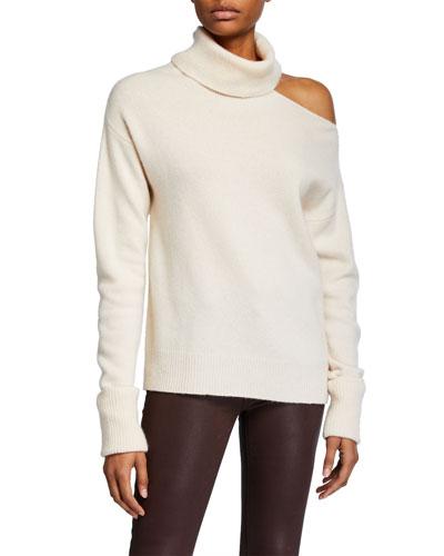 Raundi Cold-Shoulder Wool Sweater
