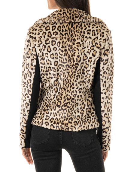 Fabulous Furs Maven Faux-Fur Moto Jacket - Inclusive Sizing