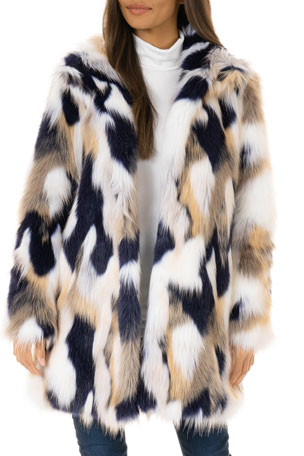 Fabulous Furs VIP Faux-Fur Stroller Coat - Inclusive Sizing