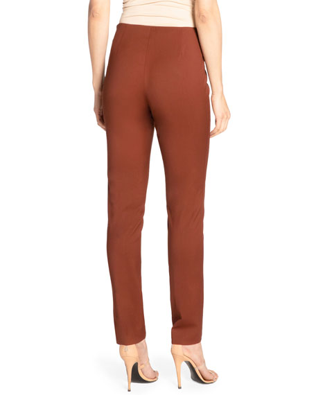 Santorelli Cece Slim Virgin Wool Stretch Ankle Pants