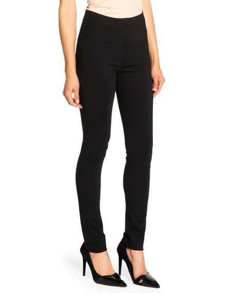 Image 2 of 3: Santorelli Dawn Double Jersey Legging Pant with Seam Details