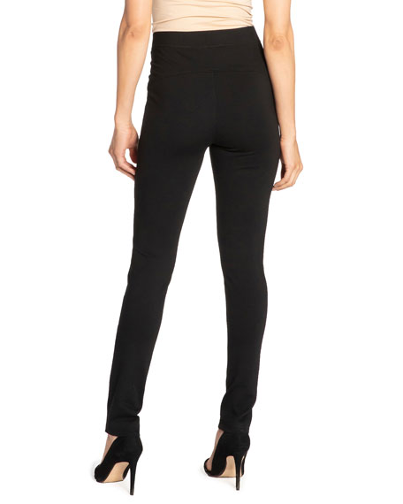 Image 3 of 3: Santorelli Dawn Double Jersey Legging Pant with Seam Details