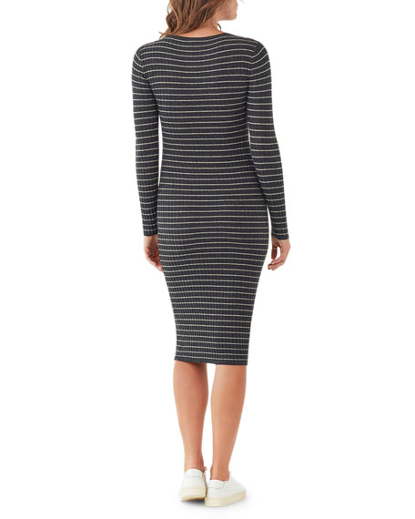Splendid Kinsley Striped Long-Sleeve Dress